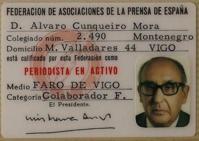 Carnet de la Asociación de la Prensa de España
