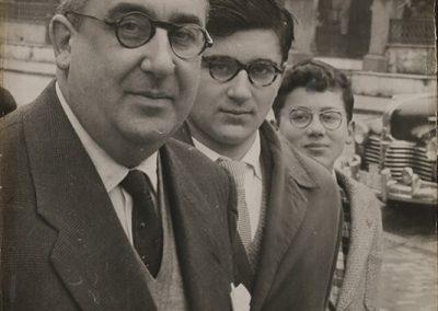 Álvaro con sus hijo César y Álvaro, en Mondoñedo